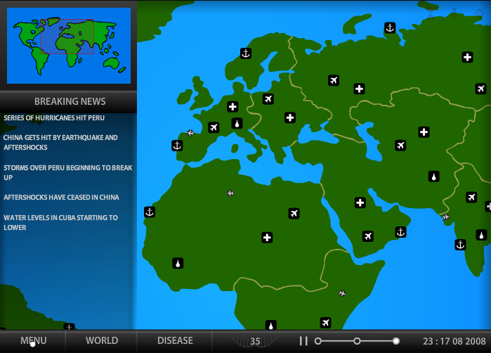 Microbiology educational games screenshot of dan archibalds game pandemic 2 for dark realm studios gumiabroncs Gallery